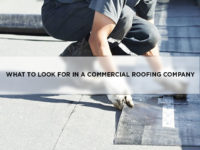 What To Look For In A Commercial Roofing Company