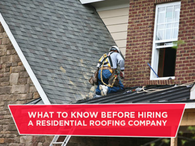 What to Know Before Hiring a Residential Roofing Company
